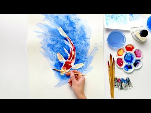 How to create a loose water effect background in watercolor