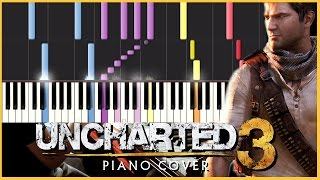 Uncharted Nate's Theme - Synthesia Piano Tutorial (4 Hands) Sheet Music