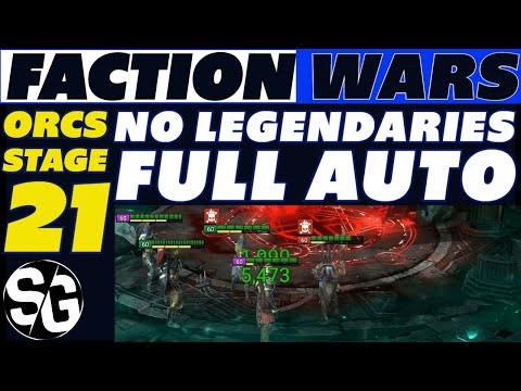 RAID SHADOW LEGENDS | ORC FW 21 NO LEGENDARIES FULL AUTO | ORC FACTION WARS GUIDE