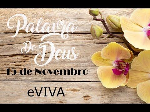 PALAVRA DE DEUS PARA HOJE 15 DE NOVEMBRO eVIVA MENSAGEM MOTIVACIONAL PARA REFLEXÃO DE VIDA