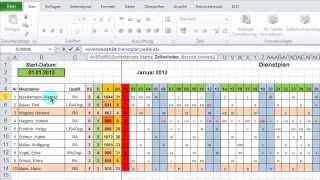 Dienstplan Fur Excel 2003 Und Excel 2007 Software Download 14