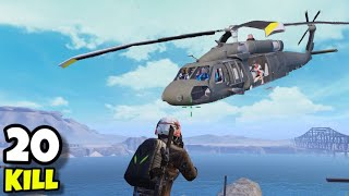 HELICOPTER IN PUBG MOBILE!!! | NEW UPDATE | 20 KILLS | SOLO VS SQUAD