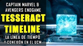 ¡ESTO FUE LO QUE PASÓ! Captain Marvel y la línea del tiempo del TESSERACT y conexión | EXPLICACIÓN