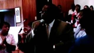 Bishop Lawrence Tate Singing: A Blessing Coming Thru