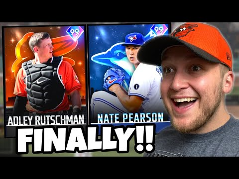 i added the *NEW* 99 ADLEY RUTSCHMAN & NATE PEARSON to the team.. THEY'RE UNREAL! MLB The Show 21