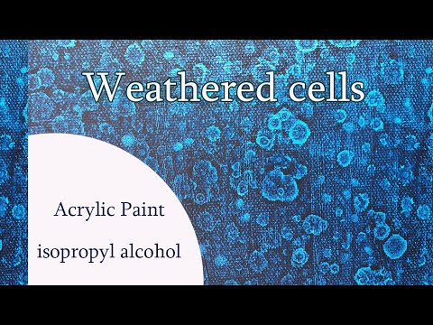 ( 993 )  How to make cells with acrylic paint and alcohol