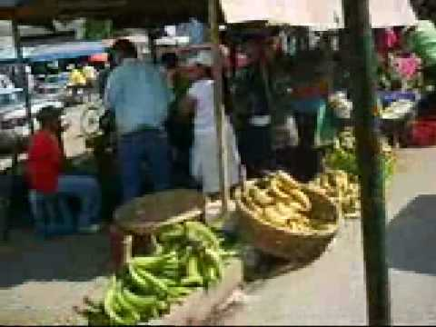 Indian in the machine – Nicaragua farmer's market