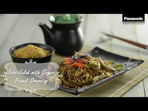 Panasonic V Series Blender – Soba Salad With Ginger Peanut Dressing
