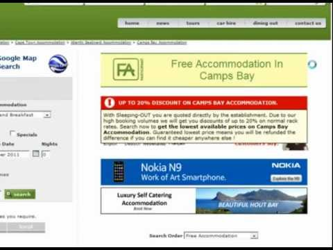 Searching for accommodation in South Africa