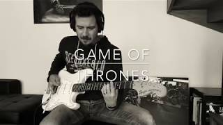 Game of Thrones Main Theme - electric guitar cover by patrick pacheco