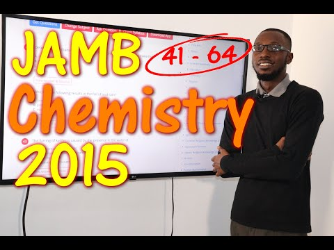 JAMB CBT Chemistry 2015 Past Questions 41 - 64