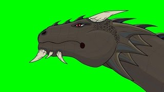 Animated Dragon Head Breathing Fire ~ Green Screen
