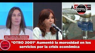 *OTRO 2001* Aumentó la morosidad en los servicios por la crisis económica