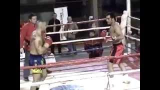 Luciano Zampieri Muay Thai Com o Gigante Francisco a Tempestade 1ºRound