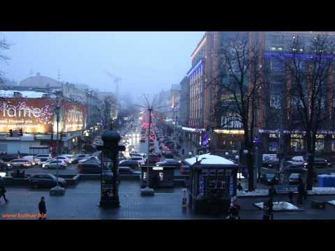 Киев вечерний – крещатик
