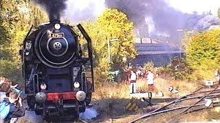 """Parní lokomotivy řada 498.1 """"Albatros"""" a řada 475.1 v Nürnberg 1999"""