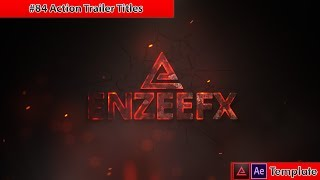Free After Effects Intro Template #84 : Action Trailer Titles for After Effects
