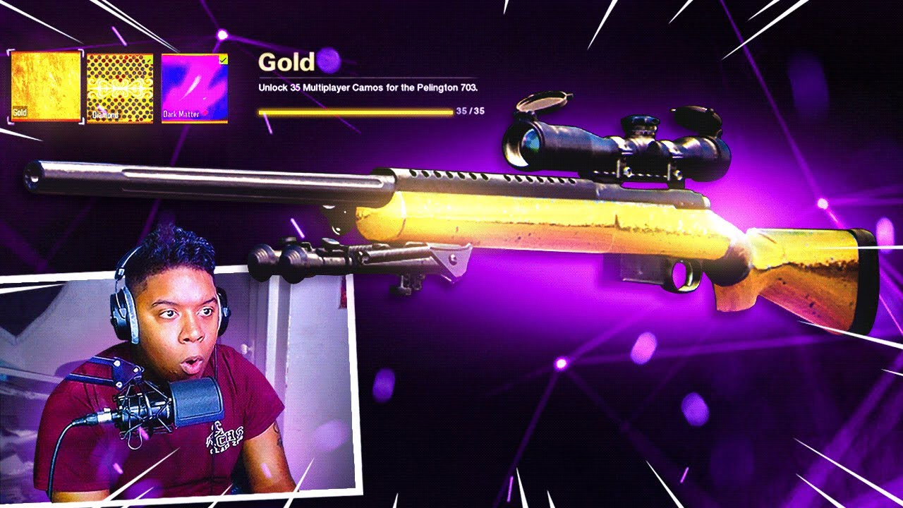 SoaR Rymm - UNLOCKING GOLD CAMO for Pelington 703! - Road To Dark Matter (Episode 1)