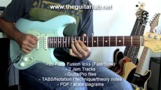 20 Funk Fusion Guitar Licks  - TheGuitarLab.net -