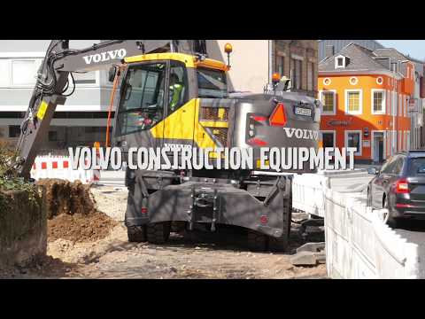 Volvo E-series wheeled excavators: class-leading short swing
