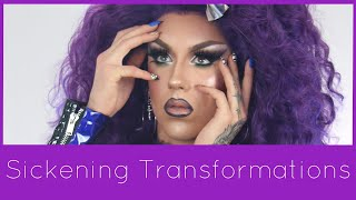 THE ALIEN PALETTE IS WHAT?! NEW LOOK WITH THE JEFFREE STAR ALIEN PALETTE | Sickening Transformations