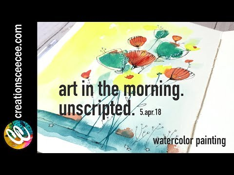 watercolor painting + doodling: it's all in the details