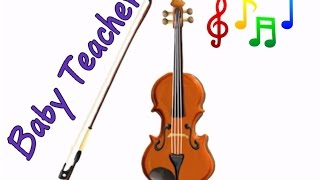 Musical Instruments Sounds for Kids – VIOLIN | MusicMakers Episode 5 - From Baby Teacher