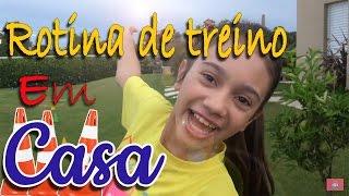 MINHA ROTINA DE TREINO EM CASA - Na mala da Mila