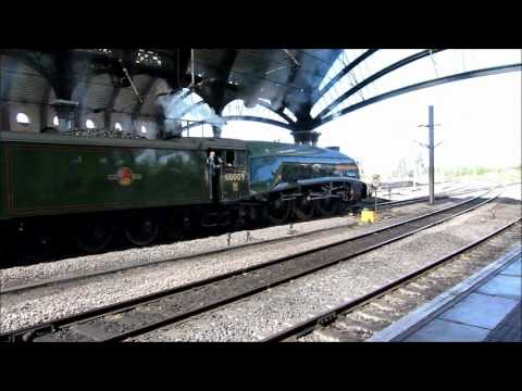 60009 Union of South Africa at York with The Scarborough Flyer on 14th September 2012