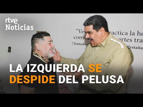 Un MARADONA fascinado por los líderes de la IZQUIERDA, falleció el mismo día que Fidel Castro   RTVE