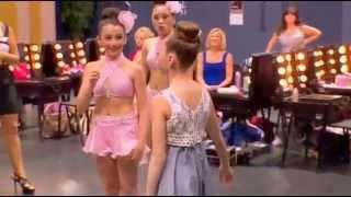 Dance Moms Maddie dancing Chandelier in the dressing room