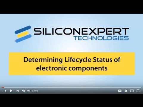 Finding the lifecycle status of electronic components