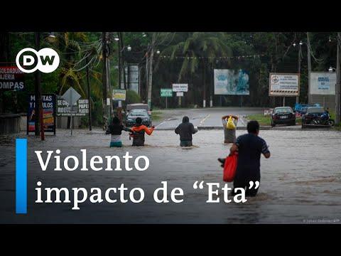 """El cliclón """"Eta"""" devasta regiones en Centroamérica"""