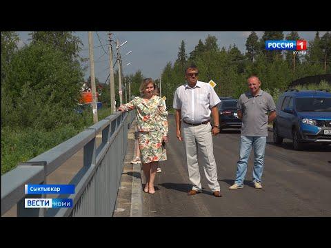 Мэр Сыктывкара Наталья Хозяинова проинспектировала ход дорожных работ в столичных поселках