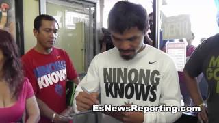 Manny Pacquiao  Already In LA to train for Mega Fight