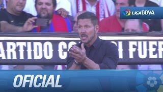 Seguimiento a Simeone en el Atlético de Madrid (0-1) FC Barcelona