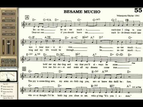 Besame Mucho playalong for Cornet Trumpet Vocal or any Bb instrument ...