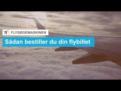 Sådan bestiller du din flybillet