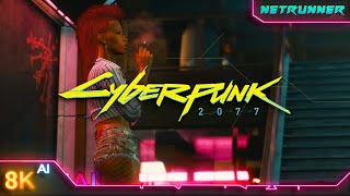 Here is an 8K AI upscaled version of Cyberpunk 2077\'s Deep Dive Gameplay Footage