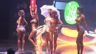 Musclemania Fitness Korea Sports Model Bikini Model Competition Body Profile Video 미스 비키니 예선 1조