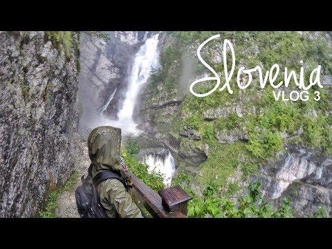 Slovenia: Slap Savica (waterfall)   Vlog 03   World Wanderista
