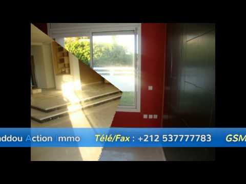 Une très belle Villa Neuf en Location  à HARHOURA   — Agence Baddou Action Immo—