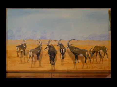 How to paint antelopes