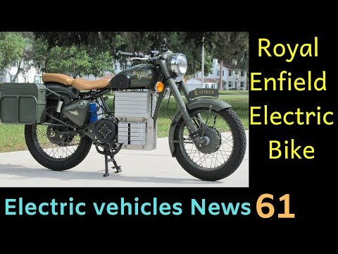 Electric vehicles News 61: Royal Enfield Electric Motorcycle, Ather Electric Motorcycle