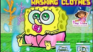 Nick Jr Spongebob Games - Spongebob Washing Clothes Game