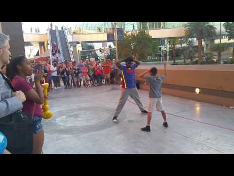 African American Folks Do Serious Street Performance In Las Vegas