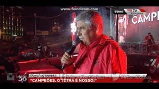 Mensagem de Luís Filipe Vieira, no Marquês de Pombal.