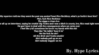 Rico Recklezz - Slide (Remix) (FBG Duck Diss) (Lyrics)