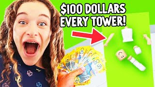 MAKE A TOWER WIN $100 - Roblox Gaming w/ The Norris Nuts