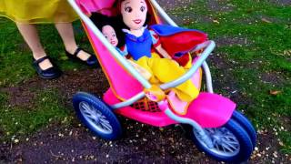 Lavender's Blue (Dilly Dilly) Song REAL Snow White Pushing Stroller Baby Doll Part 3 HD